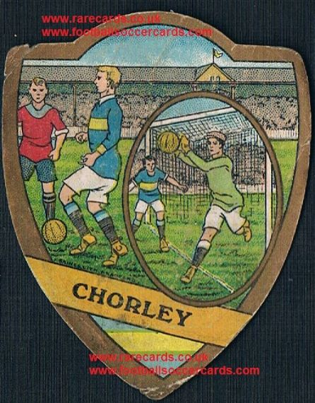 1900s Chorley F.C. on a J.Baines of Bradford football card